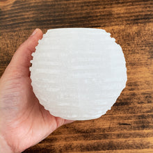 Load image into Gallery viewer, Selenite Candle Holder - Cleanse // Protection // Peace
