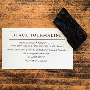 Rough Black Tourmaline - Protection // Grounding