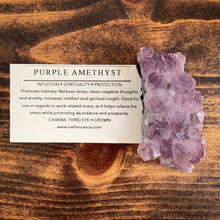 Load image into Gallery viewer, Amethyst Cluster - 117g - Intuition // Spirituality // Protection
