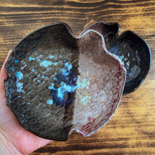 Load image into Gallery viewer, Hand-built Blue & Purple Dish - by Sophia Grace Collection