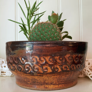 "8"" Brown Swirl Planter - by Sophia Grace Collection"