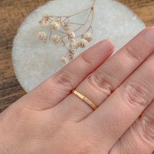 Brass Hammered Stack Ring - by Francesca