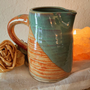Tan & Blue Green Pitcher - by Sophia Grace Collection