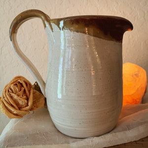 White & Copper Pitcher - by Sophia Grace Collection