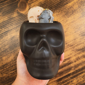 """Lemongrass"" Scented Skull Soy Candle - by Sweet Mermaids"