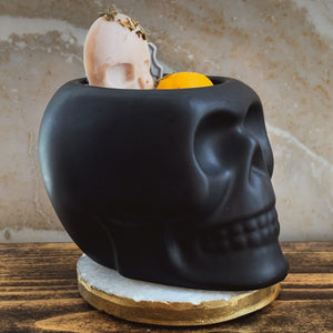 """Patchouli"" Scented Skull Soy Candle - by Sweet Mermaids"