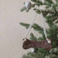 Load image into Gallery viewer, Large Dog Bone Clay Ornament with Bead Accents - by Sophia Grace Collection