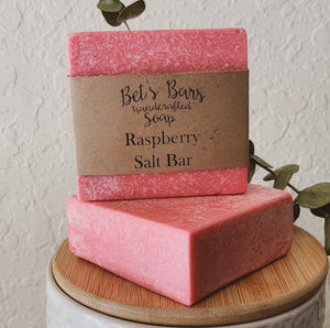 Raspberry Salt Soap Bar -by Bet's Bars