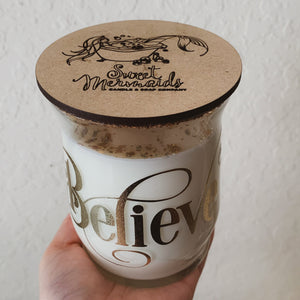 """Nordic Balsam"" Scented Soy Candle - ""Believe"" - by Sweet Mermaids"