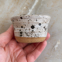 Load image into Gallery viewer, Tiny White & Black Speckled Planter - by Sophia Grace Collection