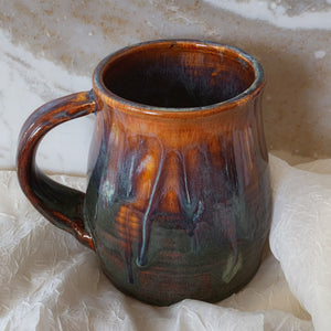 Large Brown and Blue Mug - by Sophia Grace Collection
