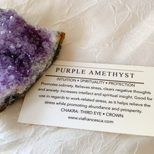 Load image into Gallery viewer, Amethyst Cluster - 126g - Intuition // Spirituality // Protection
