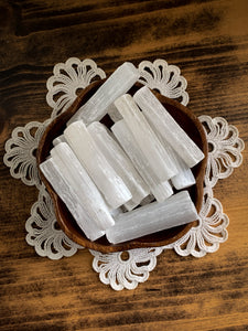 "Selenite Stick - 3"" Selenite Wand - Cleanse // Protection // Peace"
