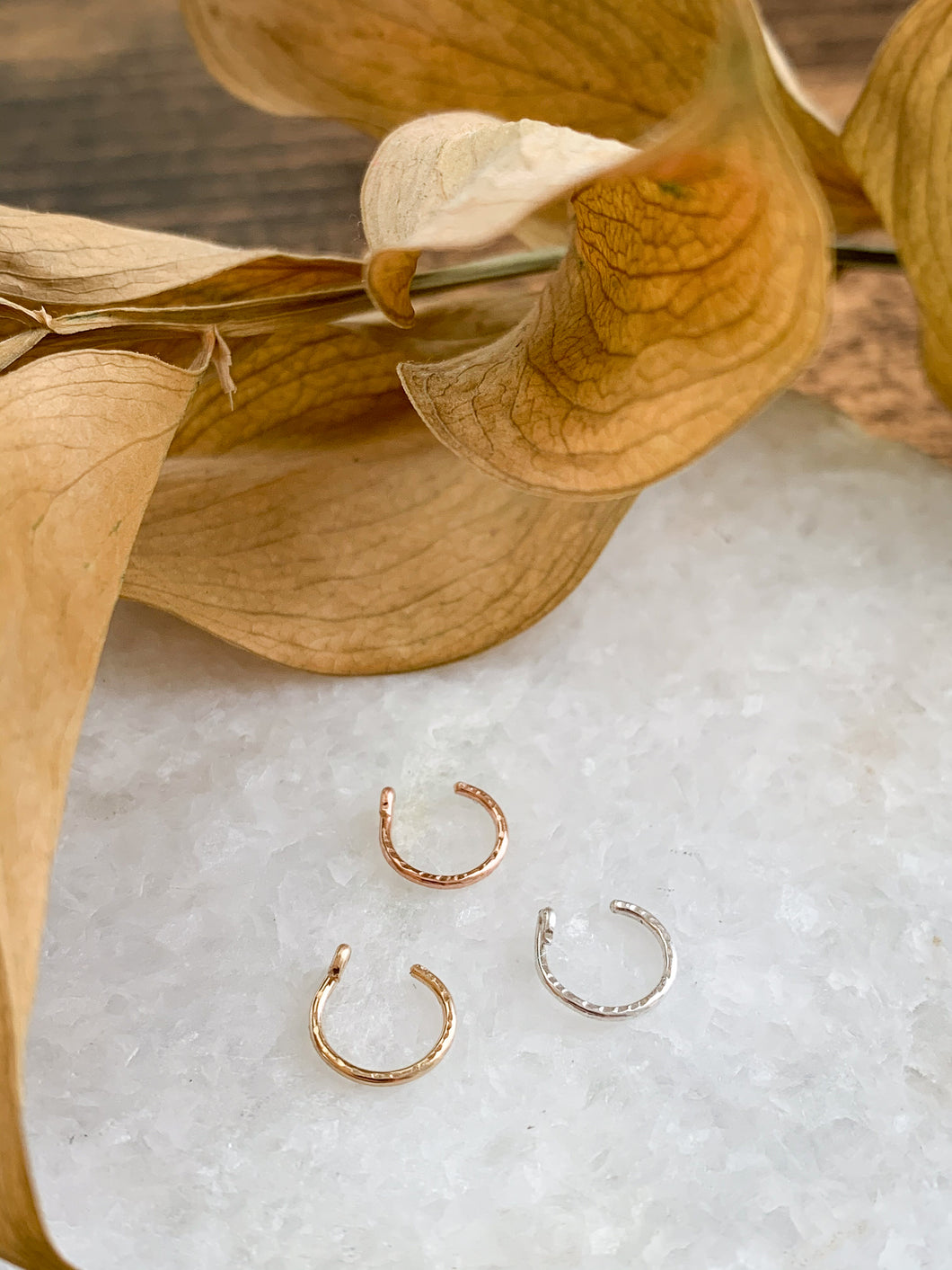 Faux Nose Hoop // Ear Cuff - Gold, Rose Gold or Sterling Silver - by Via Francesca