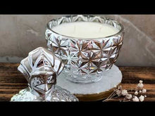 Load and play video in Gallery viewer, Silver Pineapple Soy Candle - With Surprise Earrings Inside! - Pick Your Scent - by Sweet Mermaids