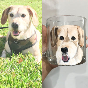 Coffee Mug with Personalized Pet Portrait - Hand Painted - by Via Francesca