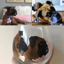 Load image into Gallery viewer, Wine Glass with Personalized Pet Portrait - Hand Painted - Stemmed or Stemless - by Via Francesca