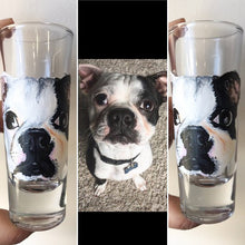 Load image into Gallery viewer, Shot Glass with Personalized Pet Portrait - Hand Painted - by Via Francesca