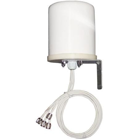 2.4/5 GHz 6 dBi Omni WiFi Antenna with 4 N plugs - AmplusWave
