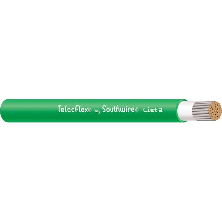 TelcoFlex II Power Cable, 4/0 AWG, Class 1, Green - AmplusWave