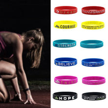 Load image into Gallery viewer, Positive Motivational Silicone Wristband