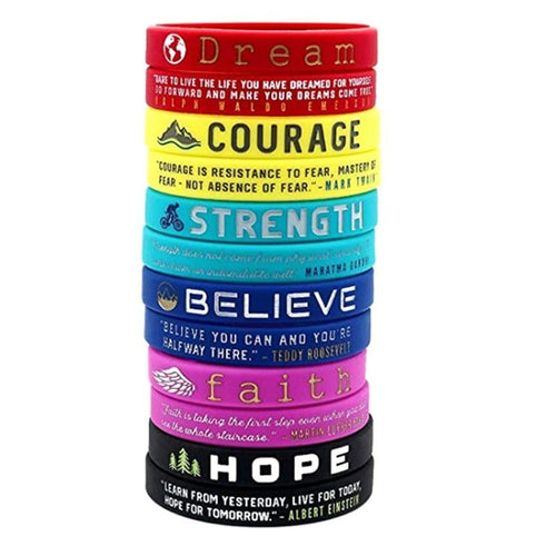 Positive Motivational Silicone Wristband