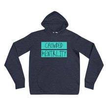 Load image into Gallery viewer, Unisex Hoodie with colored overlay logo design