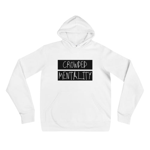 BLACK overlay crowded mentality Unisex hoodie