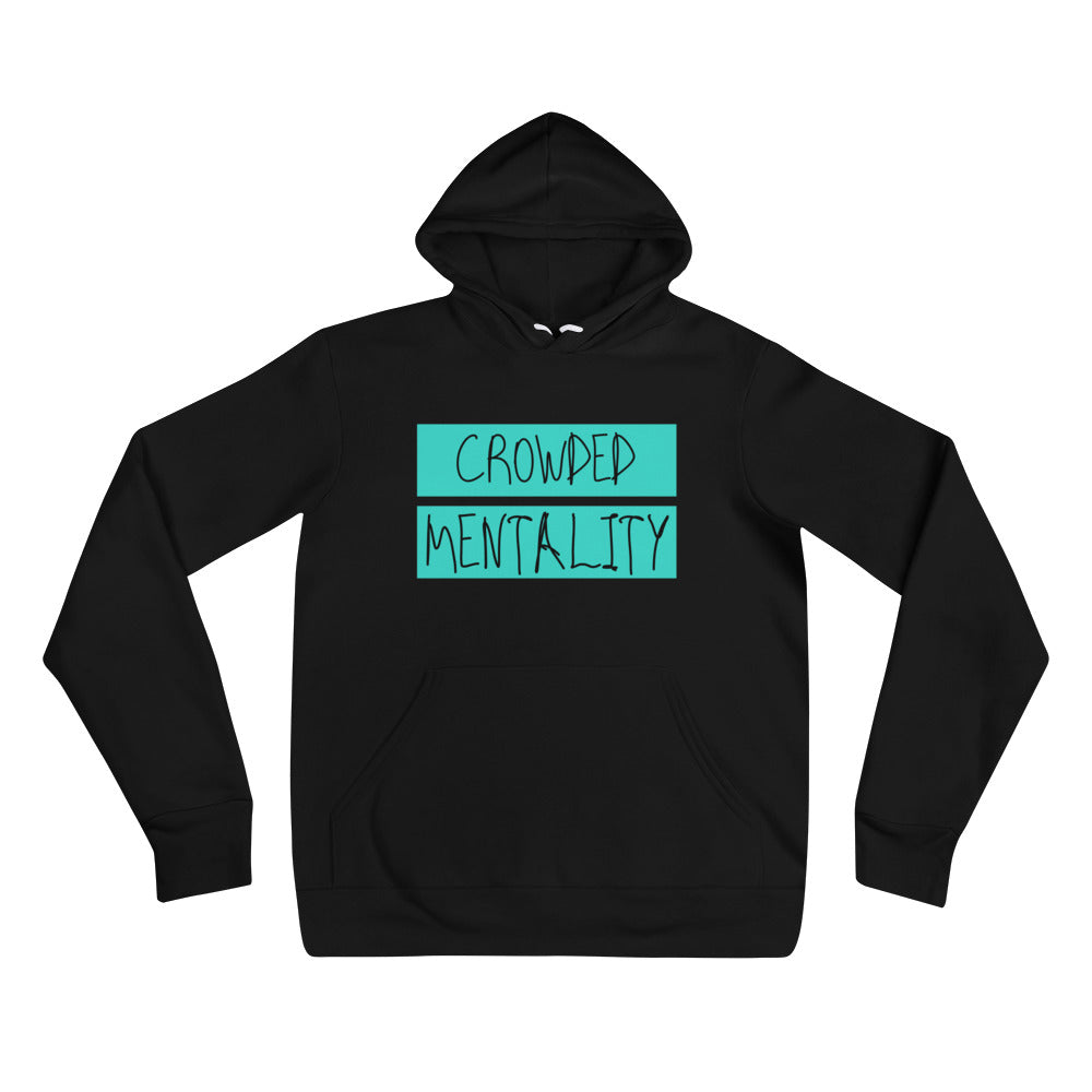 Unisex Hoodie with colored overlay logo design