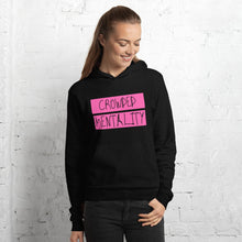 Load image into Gallery viewer, PINK overlay Crowded mentality light weight Unisex hoodie