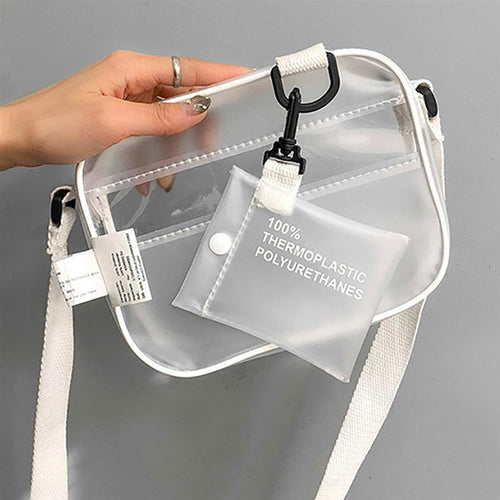 Jelly transparent purse with zipper and coin pocket