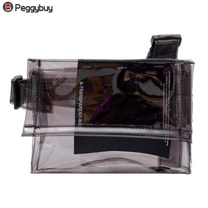 Casual PVC Transparent Clear Woman Crossbody Bags Shoulder Bag Handbag Phone Bags with Card Holder handbag Bolsa Feminina
