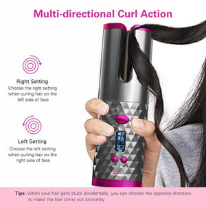 GlimmerLux Curls - Wireless Automated Curling Iron
