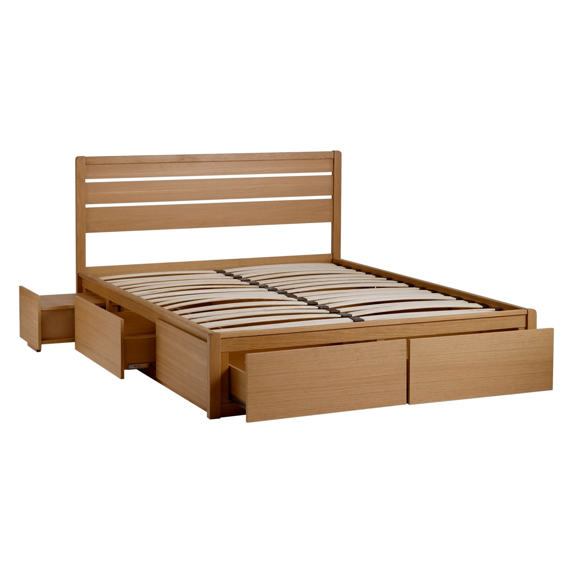 John Lewis & Partners Montreal Storage Bed, King Size, Oak