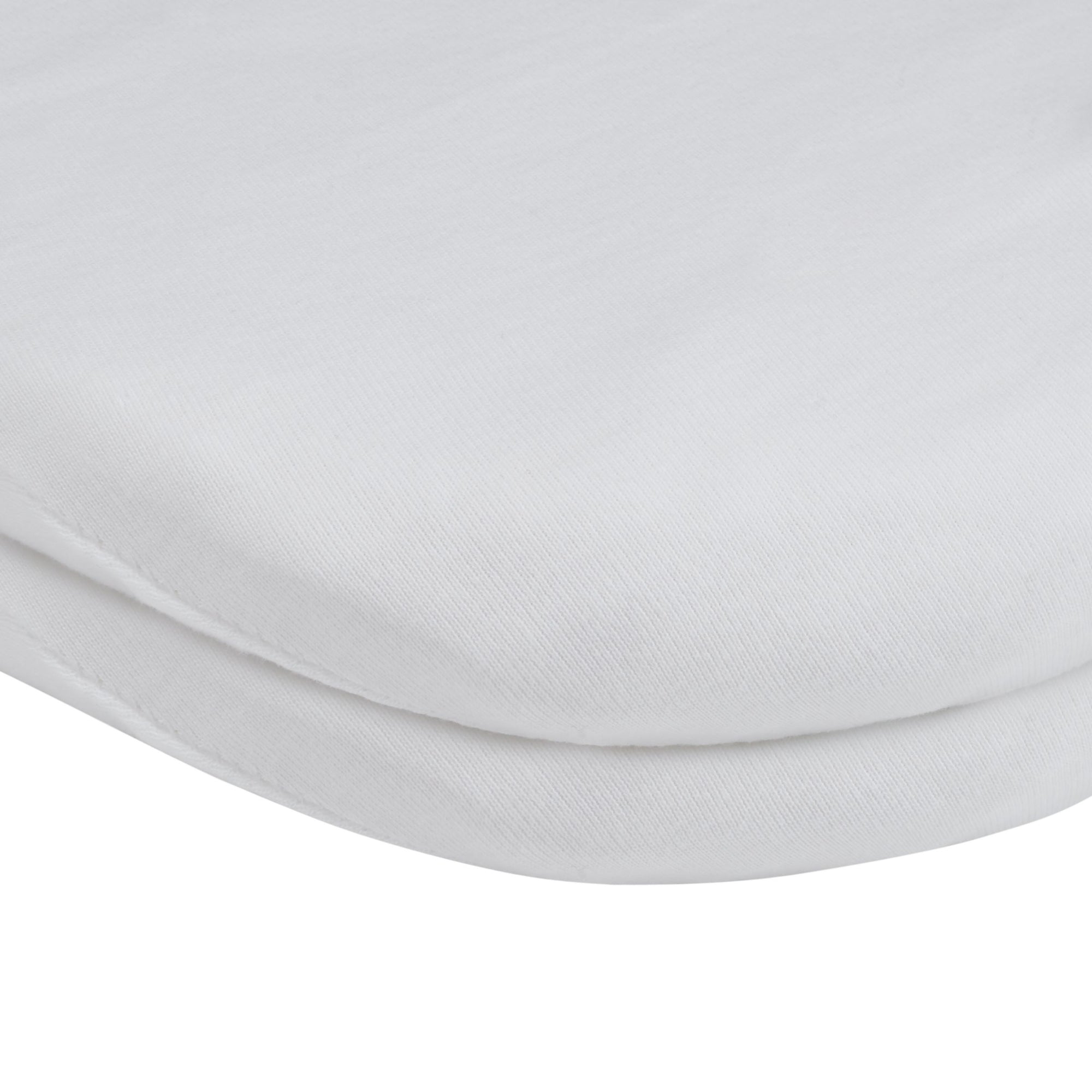 John Lewis & Partners GOTS Organic Cotton Fitted Pram Sheet, Pack of 2, White