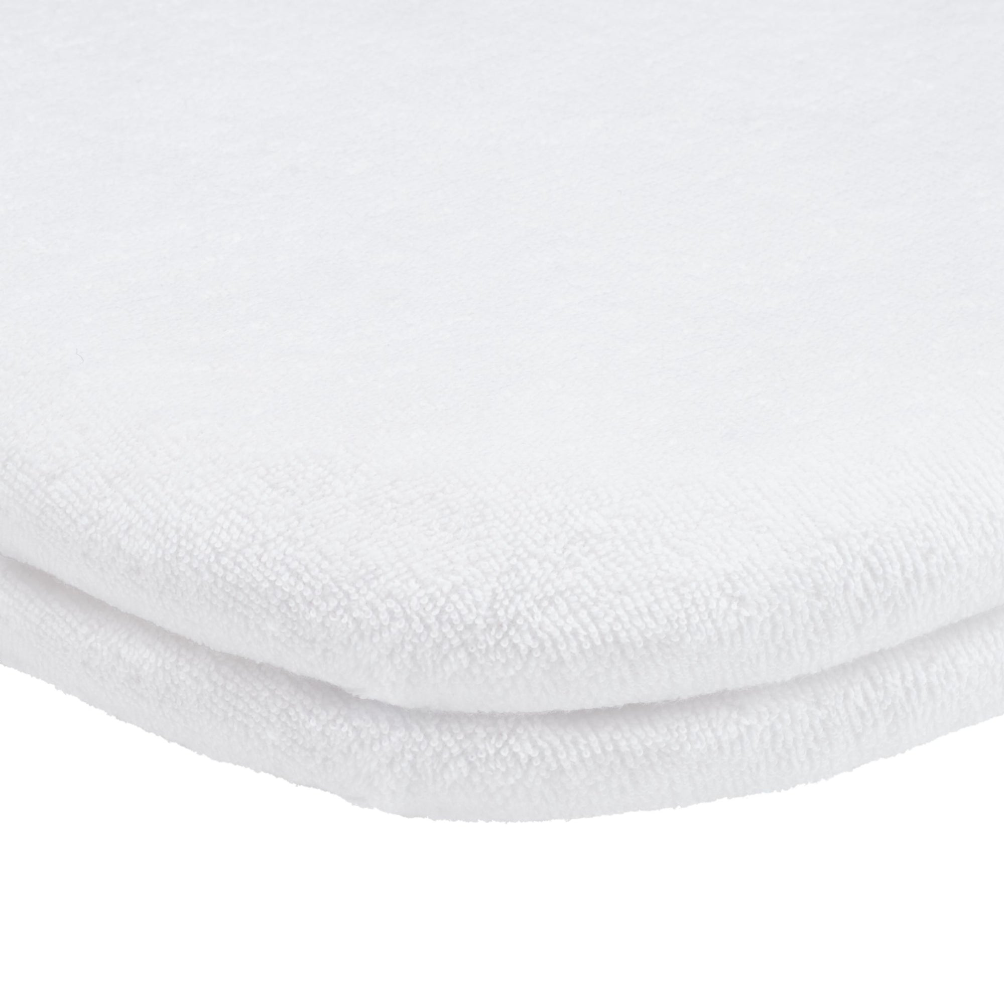 John Lewis & Partners GOTS Fitted Terry Pram/Crib Sheet, 41 x 90cm, Pack of 2, White