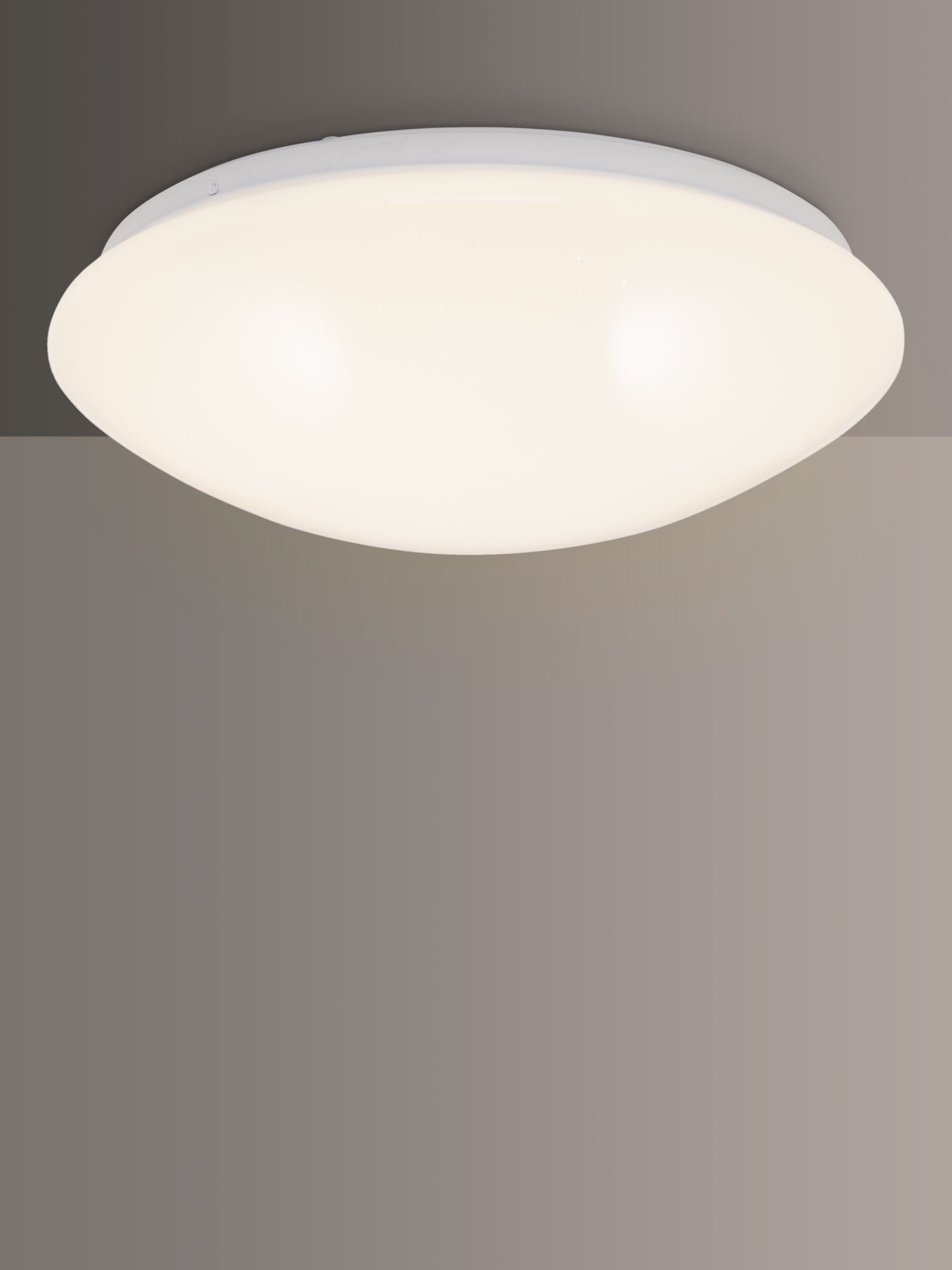 John Lewis & Partners Star Sparkle LED Flush Ceiling Light, White