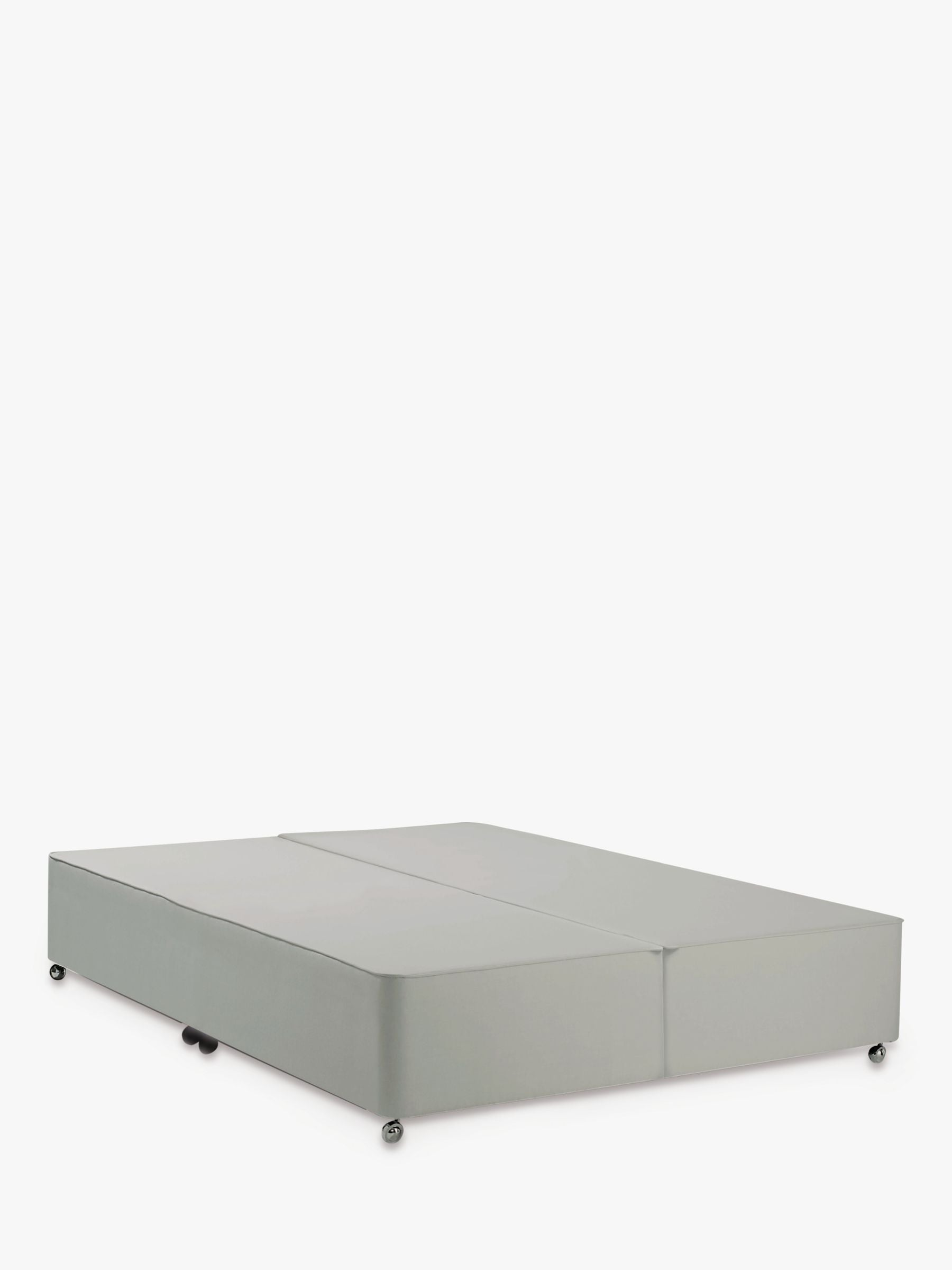 John Lewis & Partners Non-Sprung Upholstered Divan Base, Super King Size, Canvas Stone Grey, FSC-Certified (Pine)