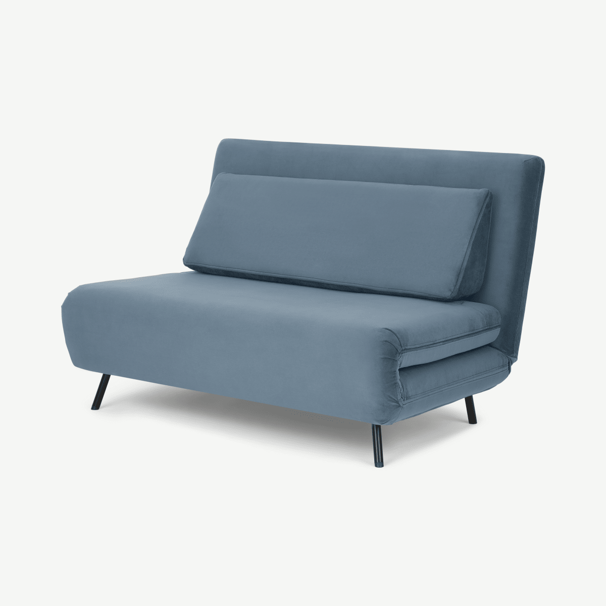 Kahlo Double Seat Sofa Bed, Arctic Blue Velvet