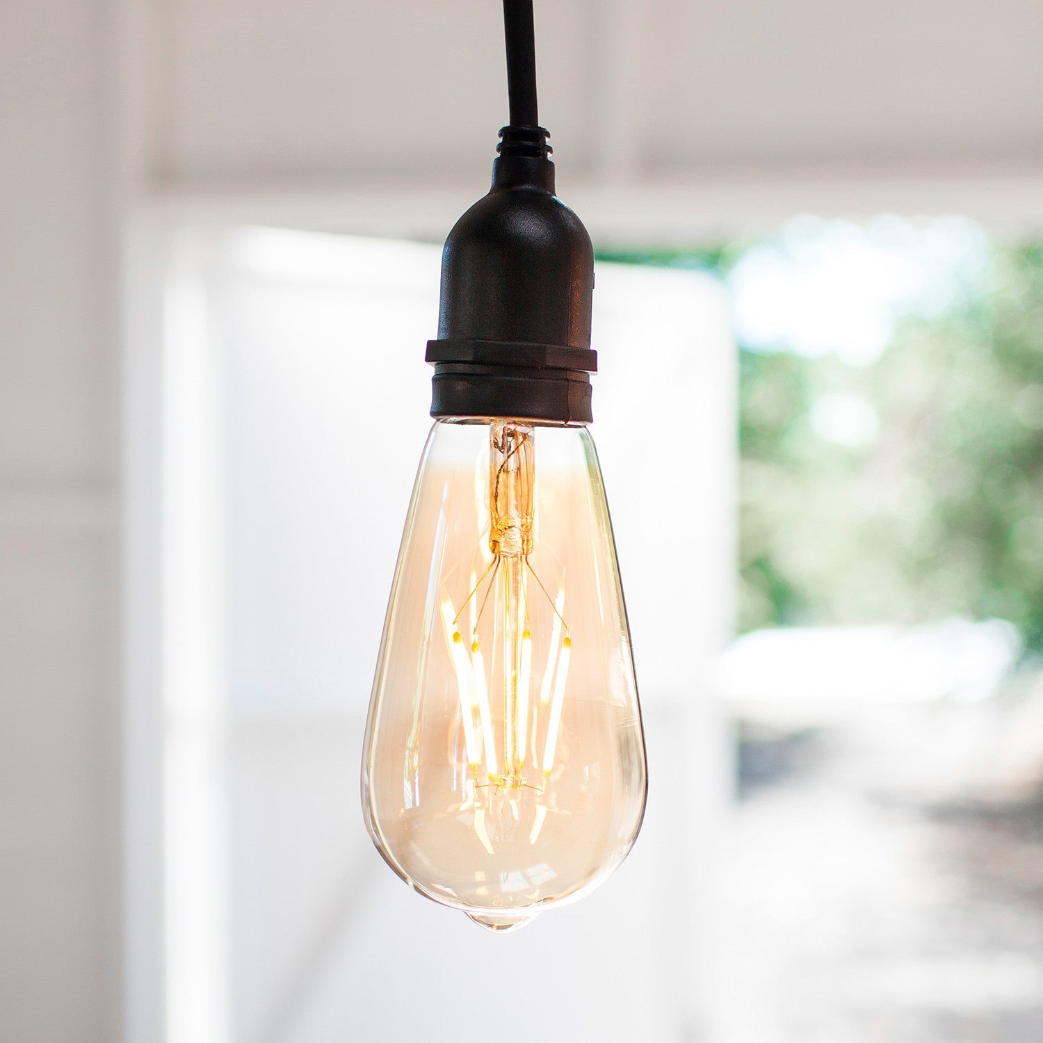 Squirrel Cage E27 1W LED Amber Filament Bulb 5 Pack