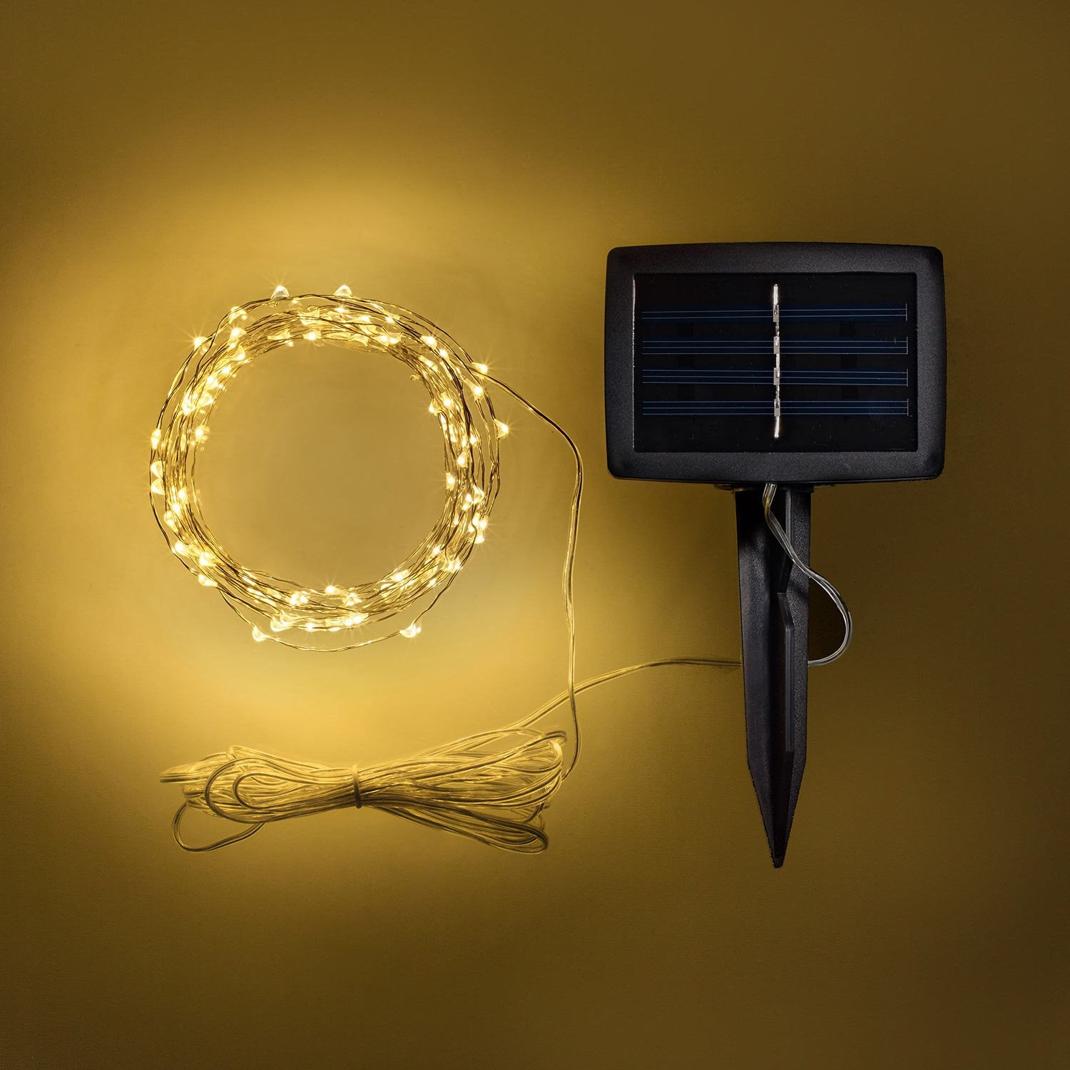 100 Warm White Micro Solar Fairy Lights