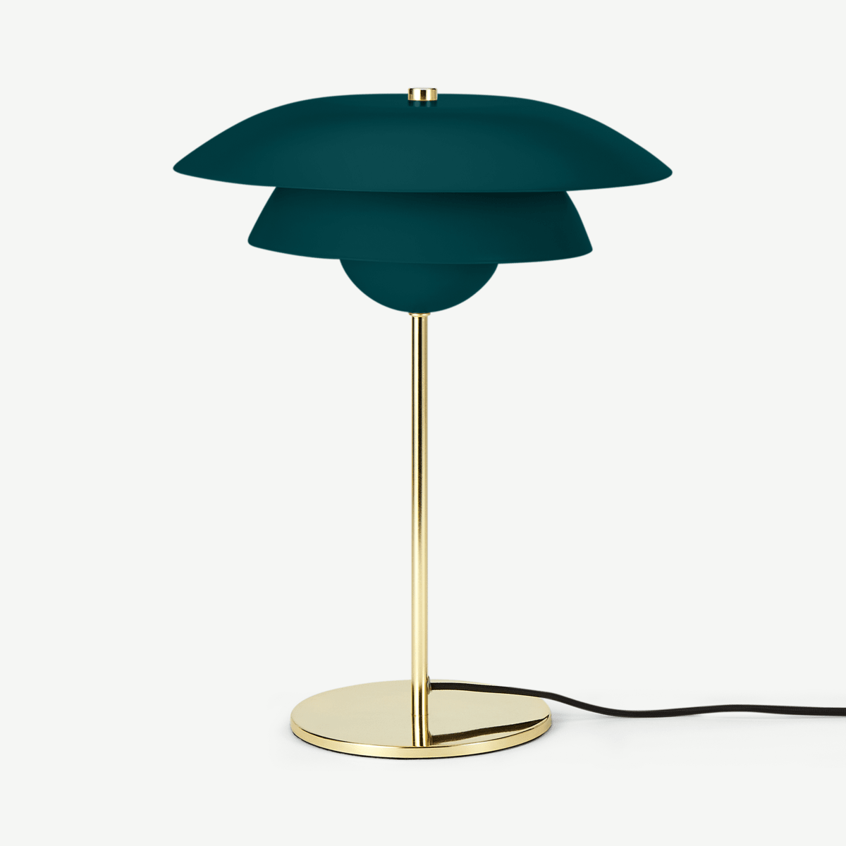 Brunswick Layered Table Lamp, Green & Brass