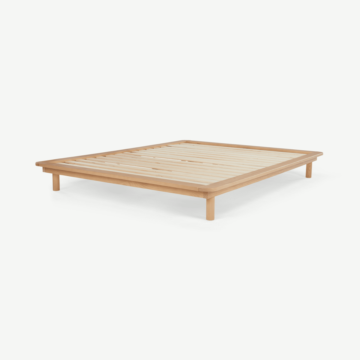 Kano Platform Double Bed, Pine