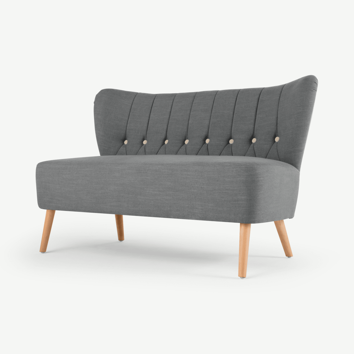 Charley 2 Seater Sofa, Graphite Grey