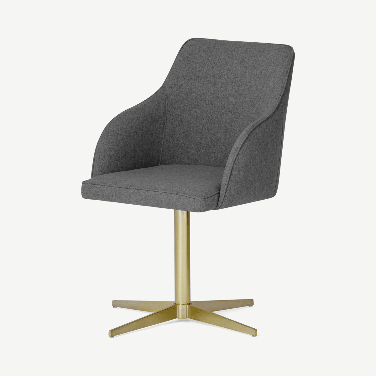 Keira Office Chair, Marl Grey & Brass