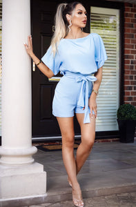 Sophia Wrap Front Batwing Playsuit