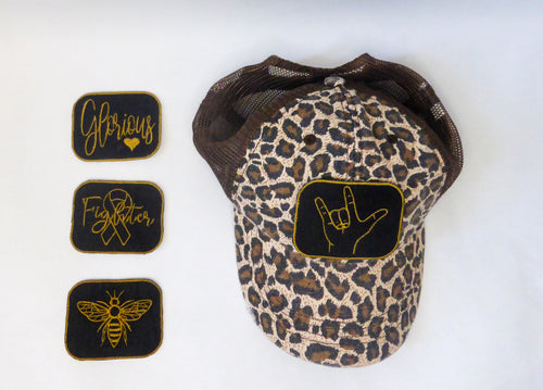 Hat with Interchangeable Patches-Tia Stokes