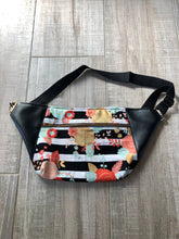 Load image into Gallery viewer, Multicolored Floral/Geo/Faux Leather Fanny Pack