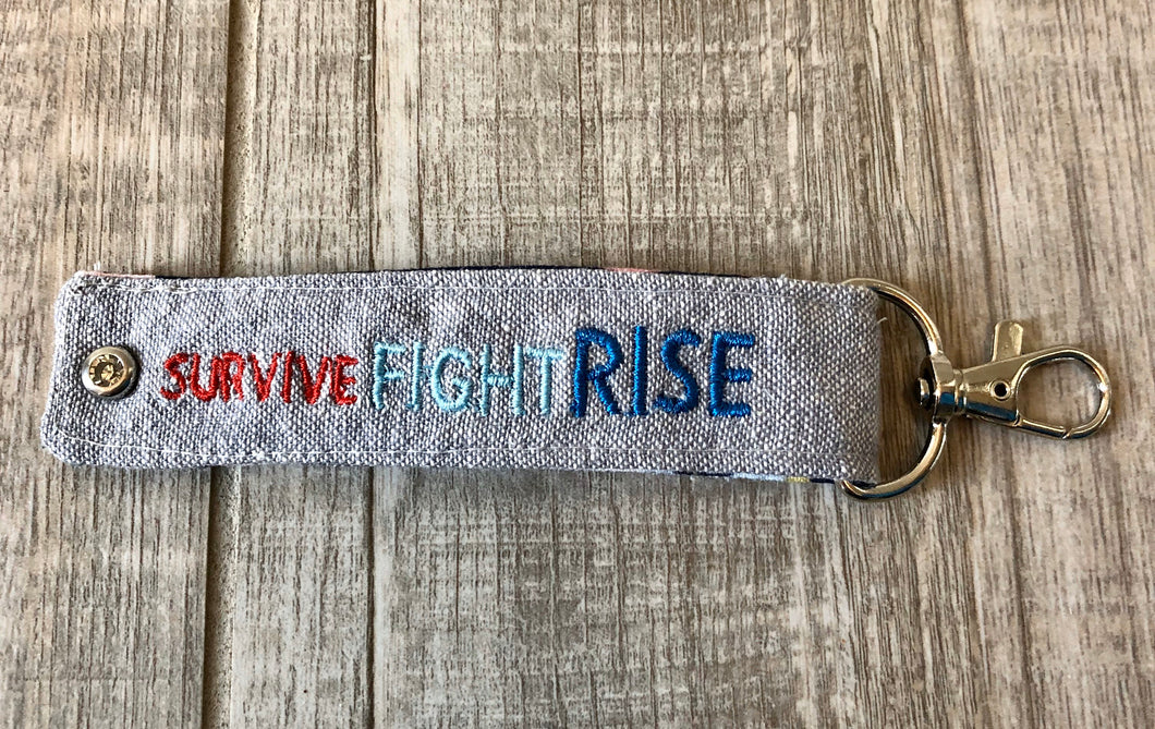 Survive Fight Rise Keychain