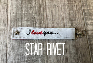 I Love You So Buckle Up Keychain